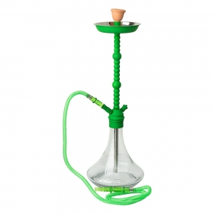 Hookah - Transparent Base with Green Pipe 70cm
