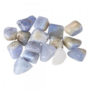 TUMBLE STONES - Agate Blue Lace per 100gms