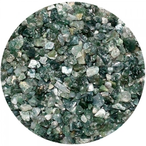 CRYSTAL CHIPS - Moss Agate 4-6mm 100gms