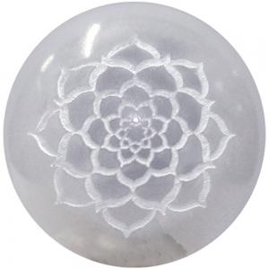 ORGONE SPHERE - Selenite Lotus of Life 5cm