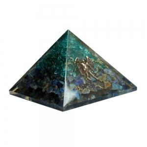 Michael Aquamarine Sodalite Orgone Pyramid 7cm