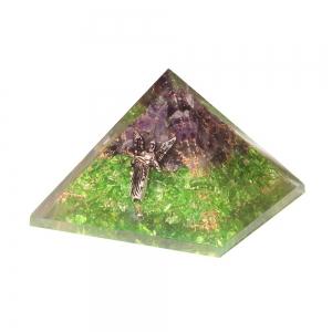 Orgone Pyramid - Raphael Amethyst Peridot 7cm