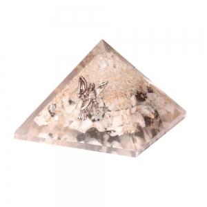 Orgone Pyramid - Gabriel Clear Quartz Moonstone 7cm