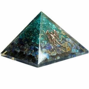 Orgone Pyramid - Aquamarine and Lapiz with Arcangel Michael 4cm
