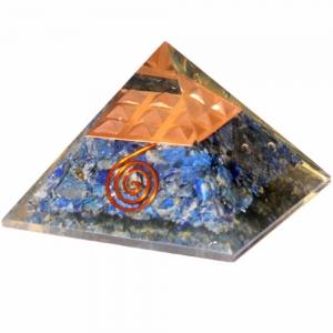 Orgone Pyramid - Lapiz with Copper Spiral