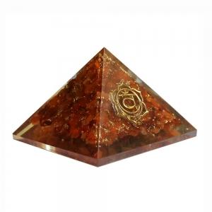 Orgone Pyramid - Sacral Chakra Carnelian 4cm