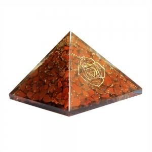 Orgone Pyramid - Base Chakra Red Jasper 4cm