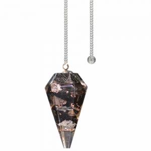 Pendulum - Black Tourmaline Orgone Faceted
