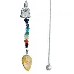 Buddha Golden Qtz Pendulum 61036