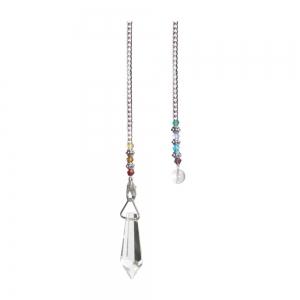 Glass Pendulum with bead chain
