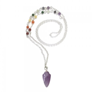 Amethyst Pendulum Necklace