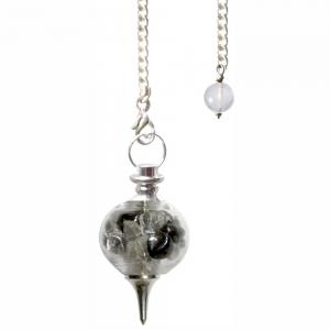Hematite Glass Sphere Pendulum - Purifying
