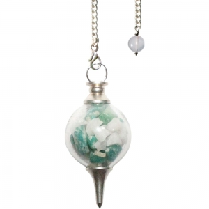 PENDULUM - Amazonite and Agate Chips - Good Luck