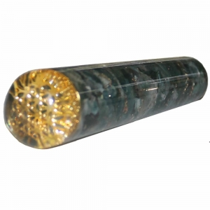 Massager - Moss Agate with Flower of Life Smooth 11.5cm