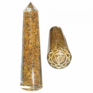 Massager - Solar Plexus Yellow Agate Smooth 11.5cm