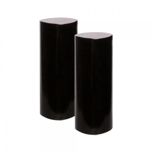 MEDITATION CHARGERS - Black Tourmaline Cylinder Pair 3.8cm x 10cm