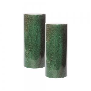MEDITATION CHARGERS - Dark Green Aventurine Cylinder Pair 3.8cm x 10cm