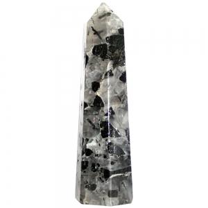 OBELISK - Crystal with Black Tourmaline 7.5cm