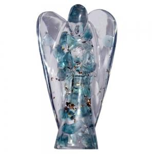 Blue Topaz Orgone Angel 5cm