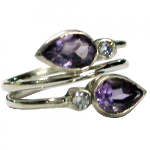 Amethyst Stones 925 Silver Ring