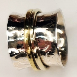 Meditation Silver Ring Size 6