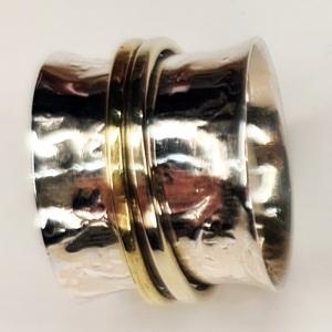 Meditation Silver Ring Size 7