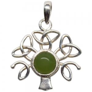 SILVER PENDANT - Peridot Celtic Tree