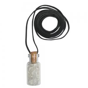 Clear Quartz Bottle Necklace