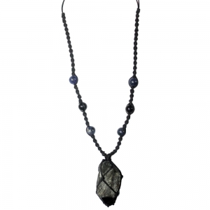 Larvakite Crystal Necklace