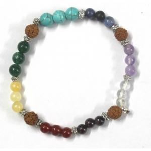 7 Chakra Bracelet with Rudraksh