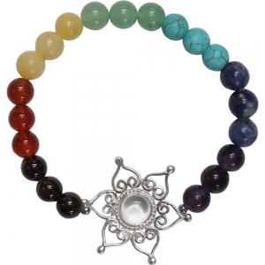 7 Chakra Bracelet Lotus Flower