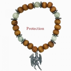 Archangel Mikael Aquamarine Bracelet Protection