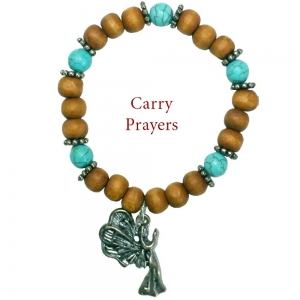 Archangel Sandalphon Turquoise Bracelet Carry Prayers