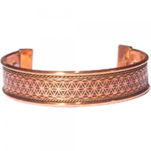 BRACELET - Flower of Life Copper with Magnets