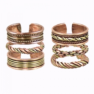 Adjustable Copper Rings Assorted