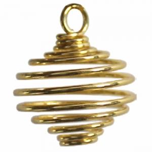 PENDANT - Brass Cage Gold 2.5cm
