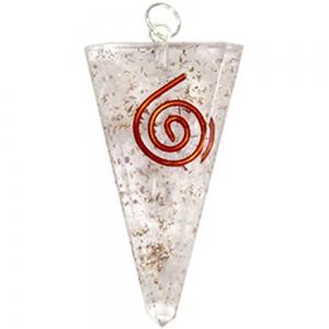 ORGONITE PENDANT - Selenite Spiral Triangle