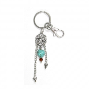 Celtic Knot Turquoise Key Chain