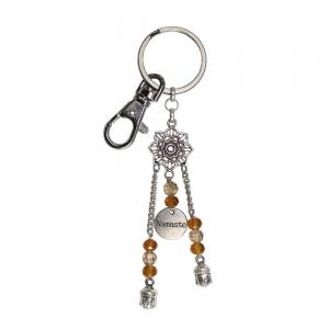 Namaste Lotus Key Chain