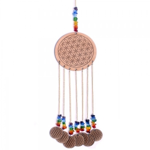 Flower of Life Wooden Charm Hanging