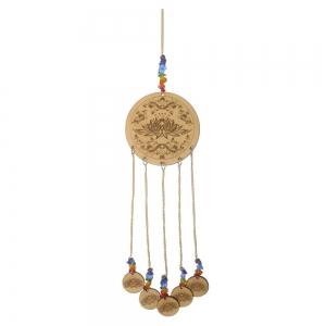 Lotus Wood Hanging Charm