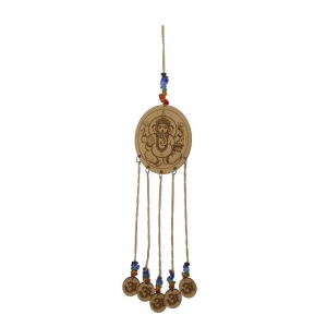 Ganesha Wooden Charm Hanging