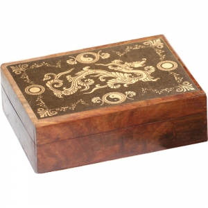 Dragon Carved Wooden Box