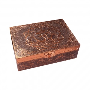 Aluminium Copper Plated Om with Lotus Box