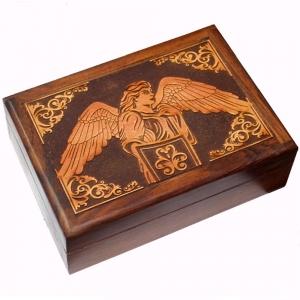 Archangel Michael Wooden Tarot Box 12.75 x 17.75cm