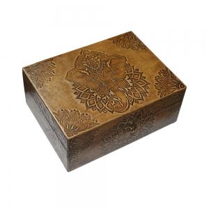 Elephant Leather Box 15x20cm