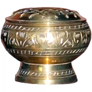 Brass Charcoal Burner with Grill 5cm