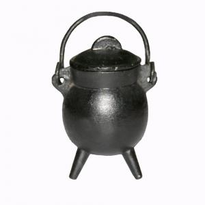 Cast Iron Mini Tripot Cauldron 6cm 270gms