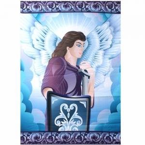 TAPESTRY - Archangel Michael Print on Crepe 147x208cm