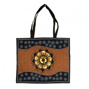 Om Lotus Cotton Tote Bag